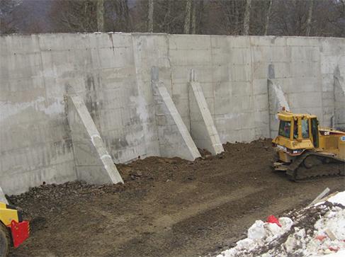 Устройство монолитных подпорных стен