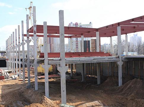 Монтаж зданий с бетонным каркасом
